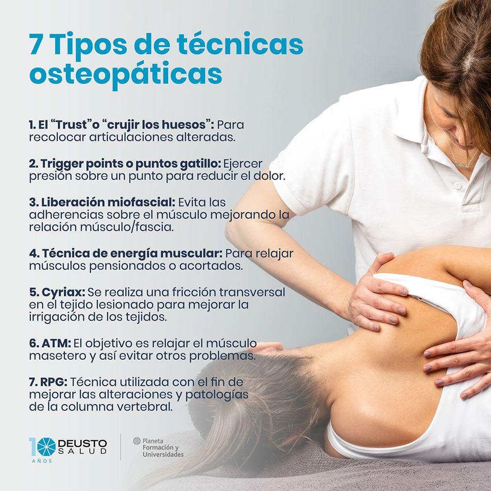 técnicas de osteopatía