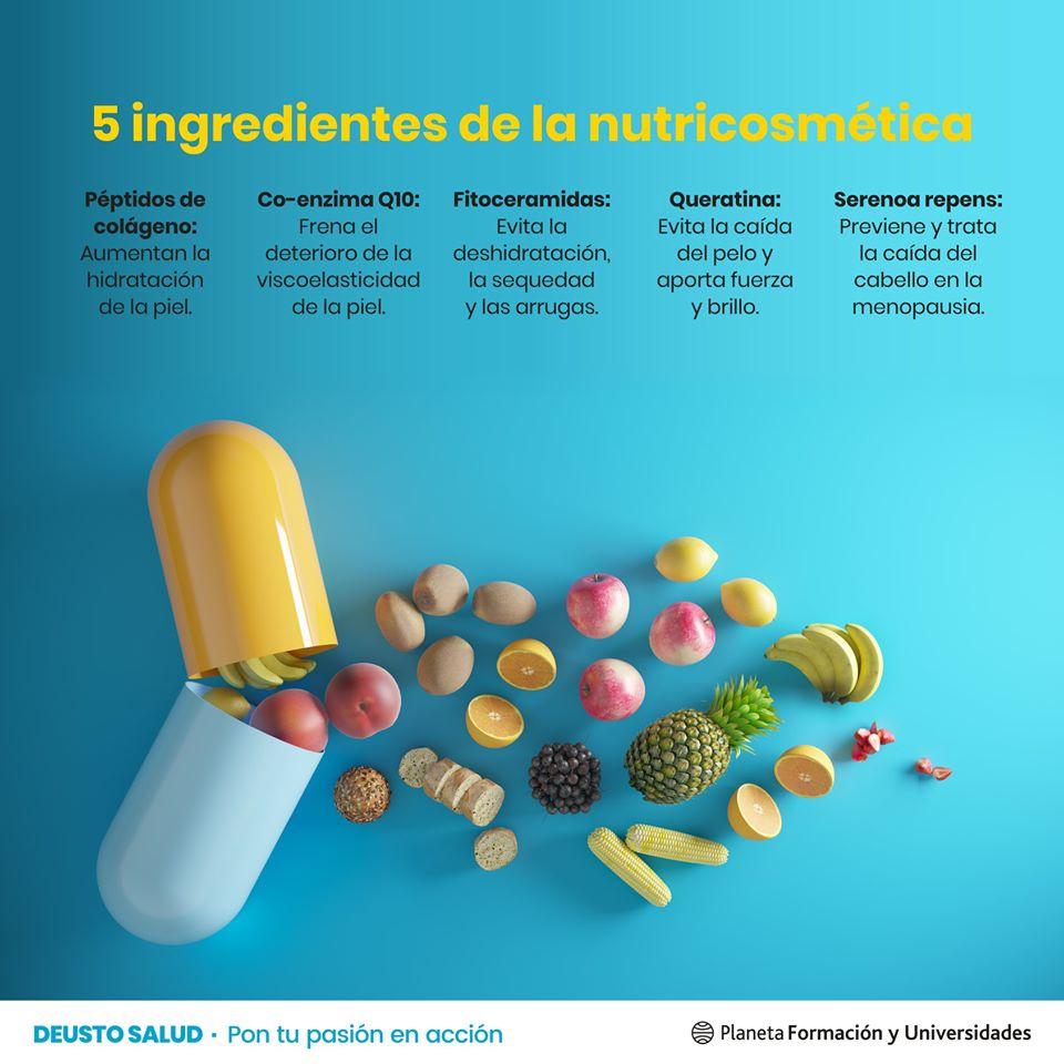 Principales ingredientes de la Nutricosmética