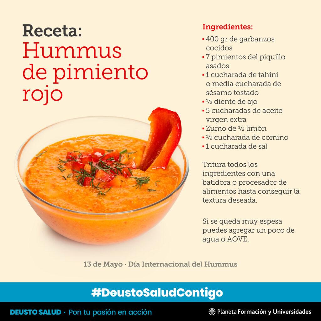 receta de hummus de pimiento rojo