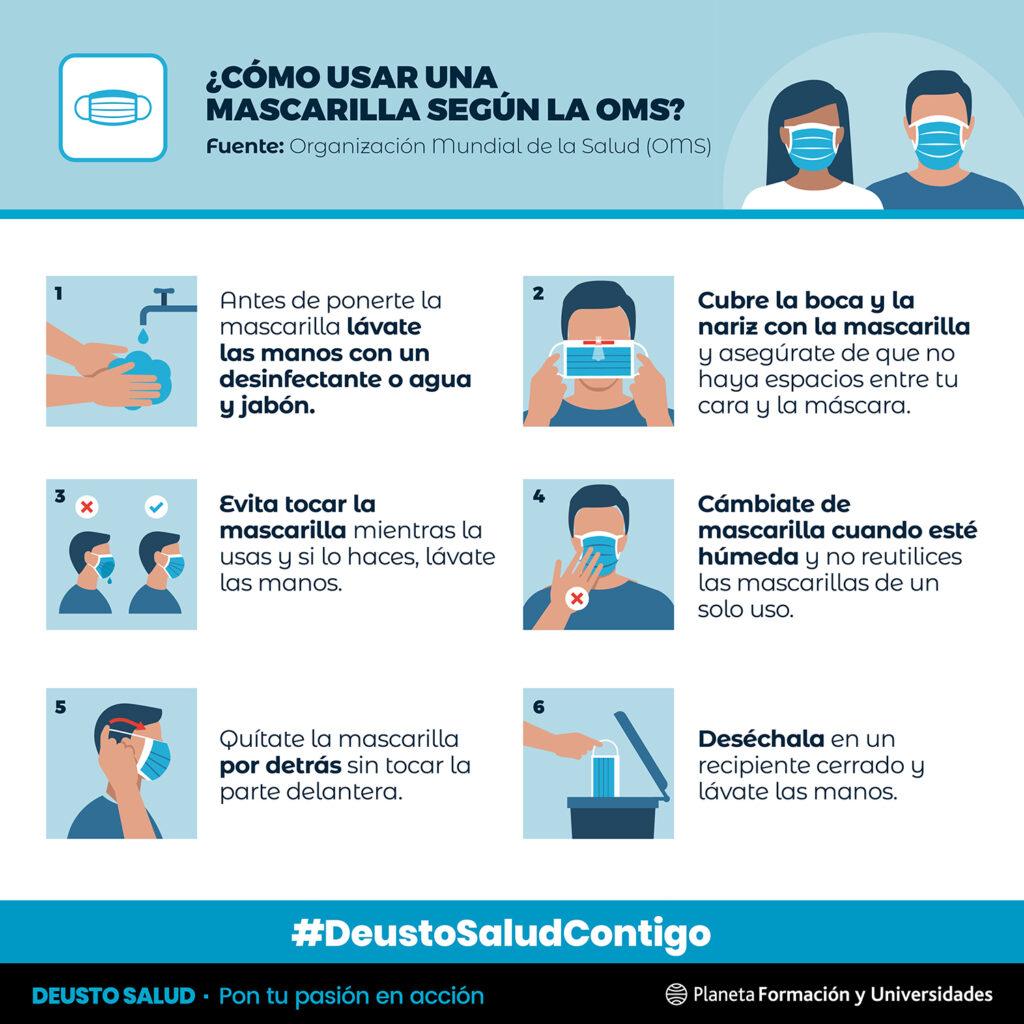 Deusto Salud - Cómo usar mascarilla