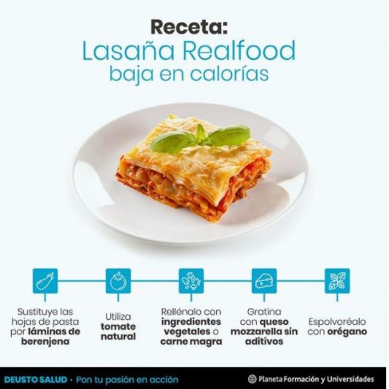 Receta: Lasaña baja en calorías